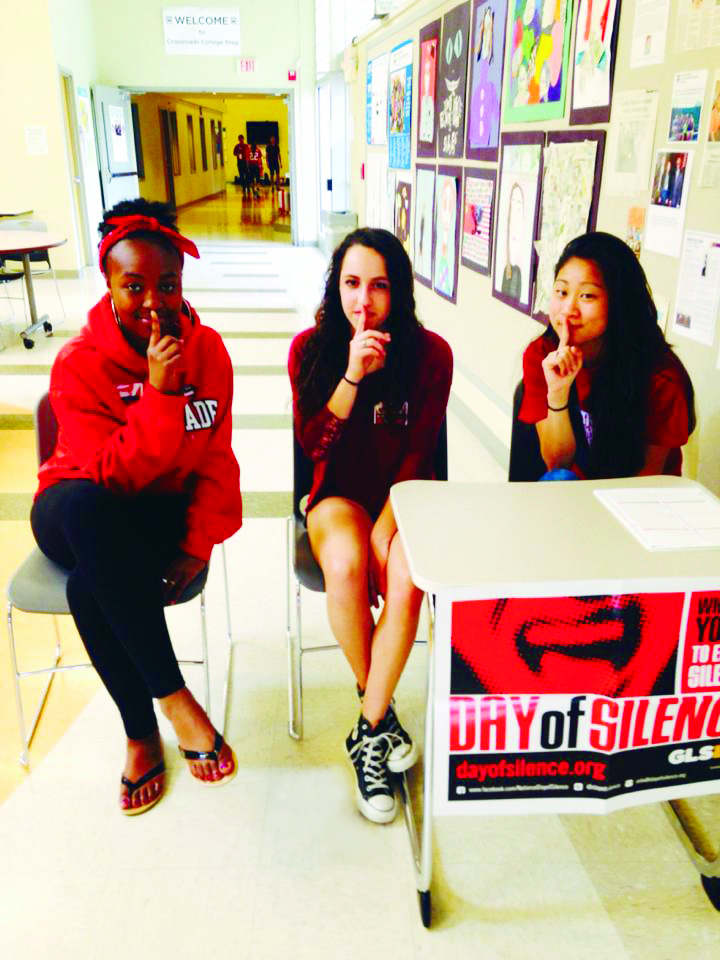 3 Crossroads students participate in Day of Silence